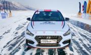 Наточен Hyundai постави рекорд за скорост на леденото езеро Байкал (ВИДЕО)