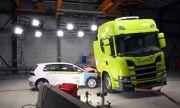 Scania тества батериите на електрическия си влекач с удар от Golf (ВИДЕО)