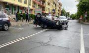 Зрелищна катастрофа в Несебър се размина без ранени