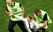 UEFA EURO 2020: Арестуваха скандална блондинка за организиране на хулиганска проява