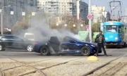 Още една Tesla се запали след ПТП (ВИДЕО)