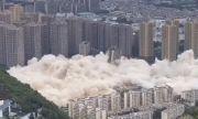 Разрушиха 15 небостъргача с един взрив (ВИДЕО)