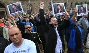 Протест срещу избора на Пеевски за шеф на ДАНС събра хиляди в София (обновена 21.30)