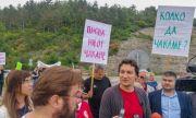 БСП в Русе започна кампанията си с демонстрация за пътя убиец край Бяла