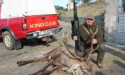 Ловджия позира гордо с убит елен: Повалих го с един удар!