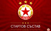 Стартовите състави на Рома и ЦСКА са определени