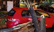Заради бурята: Срути се покривът на хипермаркет, мъж пропадна в асансьорна шахта