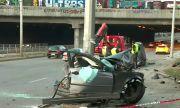 Двама пострадали при тежка катастрофа в столицата