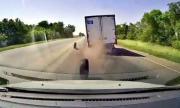 Акробатично съчетание с гума от камион (ВИДЕО)
