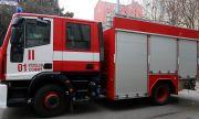 Голям пожар над Водната кула в Карлово
