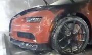 Bugatti Chiron се запали седмица след като стреляха по Rolls-Roycе-а на собственика му (ВИДЕО)
