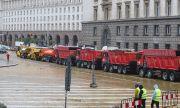 Привикаха в полицията водачите на камионите от протеста