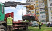 Махат изоставени коли в Перник