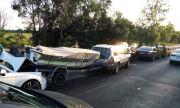 Пет автомобила и лодка се сблъскаха край Ченгене скеле