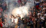 Руският футбол се завръща с 10% фенове по трибуните