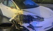 Вижте как Tesla Model 3 с включен автопилот се удари в патрулка (ВИДЕО)