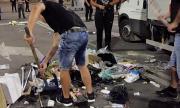 Вижте как МВР вдигна блокадата в София (ВИДЕО)