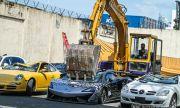 Властите във Филипините смачкаха редица луксозни коли (ВИДЕО)