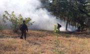 Гасят голям пожар в Старозагорско