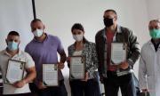 Грамота за Тервел Пулев за помощта му в борбата с коронавируса