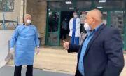 Премиерът се срещна със заразения с COVID-19 кмет на Пловдив (ВИДЕО)
