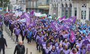 Работодатели и синдикати излязоха на протест заради цените на тока