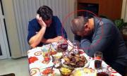 Мъртво пиян полицай спи след запой на масата