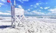 Пяна, подобна на памук, заля плажа на Шабла