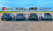 Най-наточените комбита Audi RS6, Mercedes-AMG E 63S, и Panamera Turbo S против BMW M5