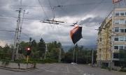 Силният вятър в София вдигна палатки на протестиращи