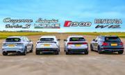 Кой е най-бързият всъдеход на VAG: Cayenne Turbo S E-Hybrid, RS Q8, Bentayga W12 или Urus? (ВИДЕО)
