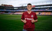 Мартин Минчев игра за Спарта Прага при победата срещу Млада Болеслав