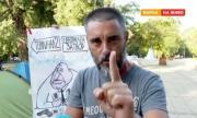 Задържан на протеста във Варна: Г-н Борисов, живите факли ли чакате, за да подадете оставка