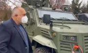 Борисов посети завод за военни коли (ВИДЕО)