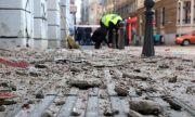 Лошо реновирана сграда в центъра на София едва не уби хора (СНИМКИ)