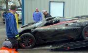 Най-бързата кола в света катастрофира при нелеп инцидент