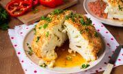 Рецепта за вечеря: Печен цял карфиол с ароматни билки и гъби