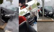 На живо: Келеши с E-Klasse срещу уличен стълб (ВИДЕО)