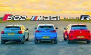 Audi SQ2 срещу BMW X2 M35i xDrive срещу Volkswagen T-Roc R (ВИДЕО)