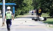 Мотоциклетистът, пострадал при катастрофа в София, е стабилизиран