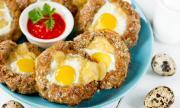 Рецепта за вечеря: Гнезда от кайма, яйца и кашкавал