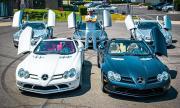 Крупен бизнесмен купи пет Mercedes-а SLR McLaren наведнъж (ВИДЕО)