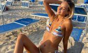 Половинката на Грациано Пеле блести по бански