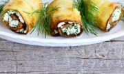Рецепта за вечеря: Рулца от тиквички с козе сирене