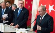 Путин и Ердоган с разговор на върха