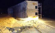 Катастрофа между два камиона затвори пътя Добрич – Балчик