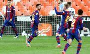 Барселона изравни Реал Мадрид след трудна победа над Валенсия