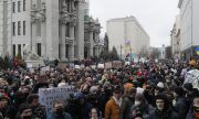Протест за свободата на медиите в Украйна