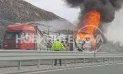 """Камион се запали на магистрала """"Хемус"""""""