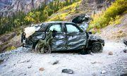 Вижте какво остана от Ford, който падна в пропаст от 120-метрова височина